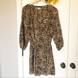 Joie Short Night Out Animal Molly Silk Dress